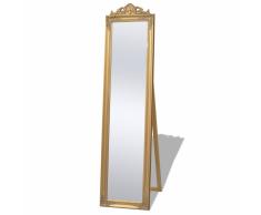 vidaXL Espejo de pie estilo barroco 160 x 40 cm dorado