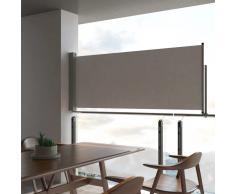 vidaXL Toldo lateral retráctil para patio 100x300 cm gris