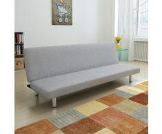 vidaXL Sofá-cama color gris claro