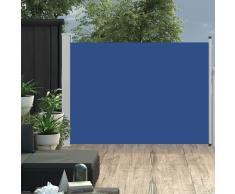 vidaXL Toldo lateral retráctil de jardín azul 120x500 cm