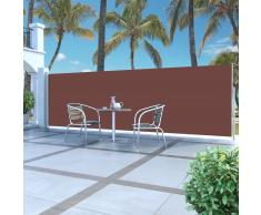 vidaXL Toldo lateral retráctil 160x500 cm marrón