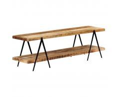 vidaXL Mueble para TV de madera maciza de mango 160x40x50 cm