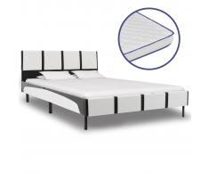vidaXL Cama con colchón viscoelástico cuero sintético 140x200 cm