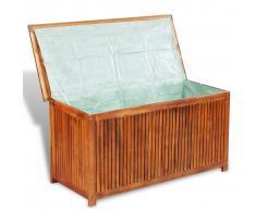 vidaXL Caja de almacenamiento de madera acacia