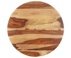 vidaXL Superficie de mesa redonda madera maciza sheesham 25-27 mm 50cm