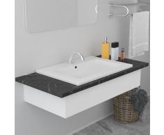 vidaXL Lavabo encastrado de cerámica blanco 61x39,5x18,5 cm