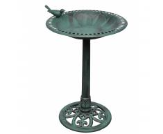 vidaXL Fuente Para Pájaros Con Ave Decorativa