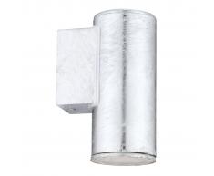EGLO Lámpara de pared exterior Riga 4 3 W 15 cm plata 30908