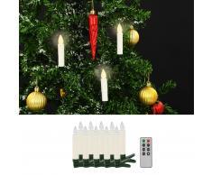 vidaXL Vela LED sin cable Navidad mando distancia 10 uds blanco cálido
