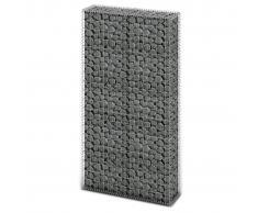 vidaXL Cesta de muro de gaviones acero galvanizado 85x30x200 cm