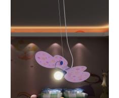 vidaXL Lámpara de techo infantil para niñas, modelo de mariposa