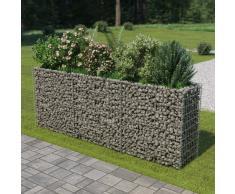 vidaXL Jardinera de gaviones de acero galvanizado 270x50x100 cm