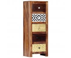 vidaXL Armario auxiliar de madera maciza de sheesham 40x30x110 cm