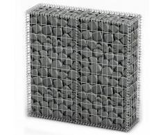 vidaXL Cesta para muro de gaviones de alambre galvanizado 100x100x30cm