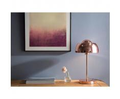 Beliani Lámpara de mesa oro rosa SENETTE
