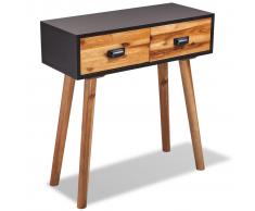 vidaXL VidaXL Mesa consola de madera maciza acacia 70x30x75 cm