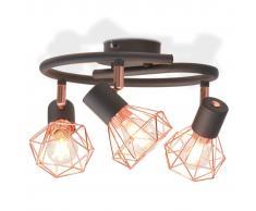 vidaXL Lámpara de techo con 3 bombillas de filamento LED 12 W