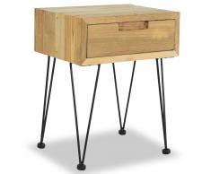 vidaXL Mesita de noche madera de teca maciza 40x30x50 cm