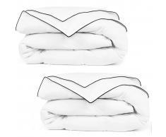 vidaXL Edredón/colcha plumón para 4 estaciones 150x200 cm 2 uds blanco