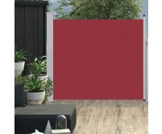 vidaXL Toldo lateral retráctil de jardín rojo 100x300 cm