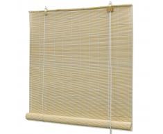 vidaXL Persiana enrollable de bambú color natural 100x220 cm