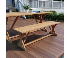 vidaXL Banco de jardín 120 cm madera maciza de teca