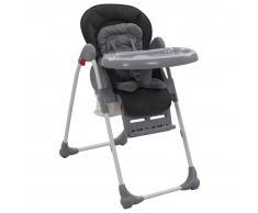 vidaXL Trona de bebé gris