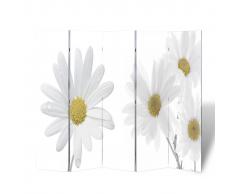 vidaXL Biombo con diseño de flores 200 x 180