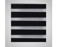 vidaXL Persiana Cebra 120 x 230 cm Negro