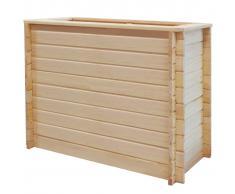 vidaXL Jardinera de jardín madera pino 19 mm 100x50x80 cm