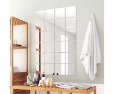 vidaXL Azulejos de espejo 24 unidades cuadrados vidrio