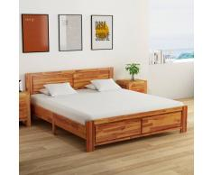 vidaXL Estructura de cama de madera maciza de acacia 180x200 cm