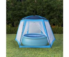 vidaXL Carpa para piscinas 500x433x250 cm azul