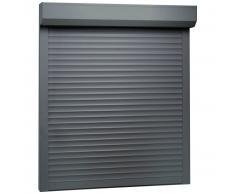 vidaXL Persiana enrollable aluminio gris antracita 100x120 cm