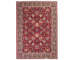 vidaXL Alfombra oriental de estampado persa rojo/beige 160x230 cm