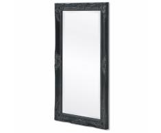 vidaXL Espejo de pared estilo barroco 100x50 cm negro