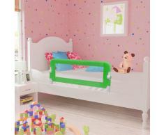 vidaXL Barra de seguridad para cama de niño 2 unidades verde 102x42 cm