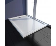 vidaXL Plato de ducha rectangular de ABS, color blanco, 80 x 110 cm