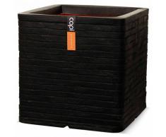Capi Maceta cuadrada Nature Row 30x30 cm negra PKBLRO902