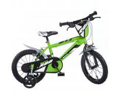 Dino Bikes Bicicleta para niños MTB R88 verde 40cm DINO356007
