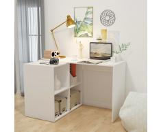 vidaXL Escritorio con estantería 117x92x75,5 cm blanco