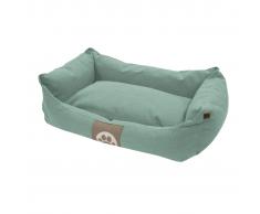 Overseas Cama para perro lona 60x40x18 cm azul hielo