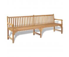 vidaXL Banco de jardín madera teca 240x62,5x90 cm