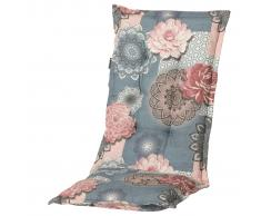 Madison Cojín de silla con respaldo alto Lisa 123x50 cm rosa y gris