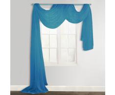 vidaXL Cortina de gasa transparente, 140 x 600 cm, Turquesa