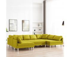 vidaXL Sofá modular de tela amarillo