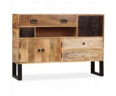 vidaXL Aparador de madera maciza de mango 115x30x80 cm