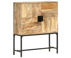 vidaXL Aparador de madera maciza de mango 80x30x100 cm
