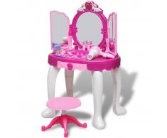 vidaXL Tocador de juguete 3 espejos con patas y efectos luz sonido