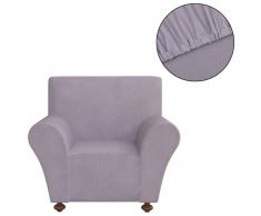 vidaXL funda elástica para sofá de tela jersey poliéster color gris